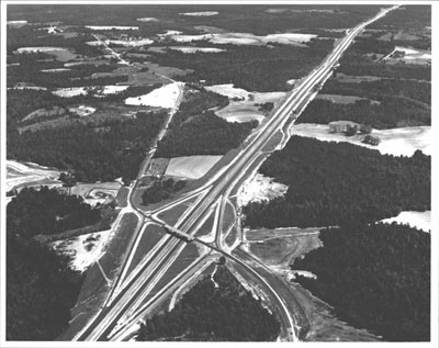 Alabama - This 13-mile, $3.8 million section of Interstate Route 65 in Escambia County is part of the route from Mobile to Montgomery.  (Not yet open to traffic when this photograph was made.)