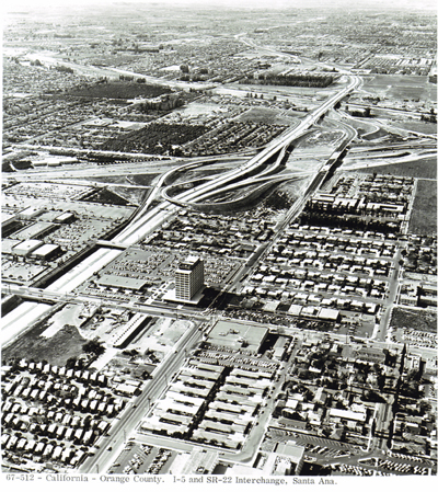 California -Orange County. I-5 and SR-22 Interchange, Santa Ana.