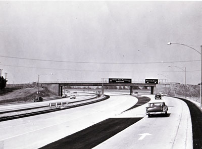 California-Ground view of Interstate 5 at Riverside Drive Off-Ramp.