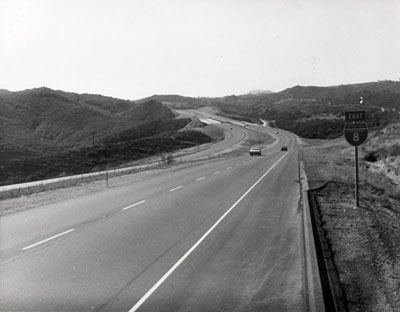 I-8 near Peutz Valley Road under crossing in San Diego County.