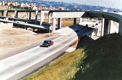 California - The I-580 & I-238 interchange in Alameda County closed the gap on two vital highways. (Caltrans photo)