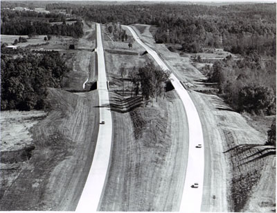 Georgia- Views of Interstate 85 in northeast Georgia, one of six routes cited for imaginative excellence in design and construction in PARADE magazine's 1965 Scenic Highway Contest.