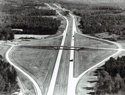 Georgia - View of Interstate Route 85 in northeast Georgia, one of six routes cited for imaginative excellence in design and construction in PARADE  magazine's 1965 Scenic Highway Contest.