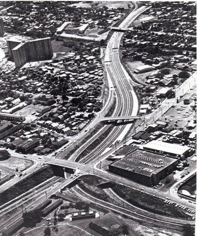 Hawaii Lunalilo Freeway, Honolulu: vicinity of Middle Street.