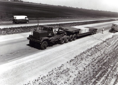 AASHO Road Test - Illinois - (K-I) HETAG Heavy Duty Tank Transporter used in the special conducted after completion of regular test traffic.