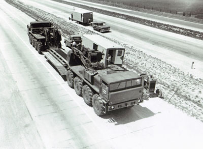 AASHO Road Test - Illinois - L-3 Heavy Duty Tank Transporter used in the special test conducted after completion of regular test traffic.