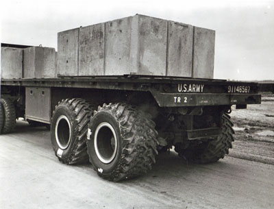 AASHO Road Test - Illinois -LPLS Tire mounted on Special Test vehicle for Post Test Special Studies.