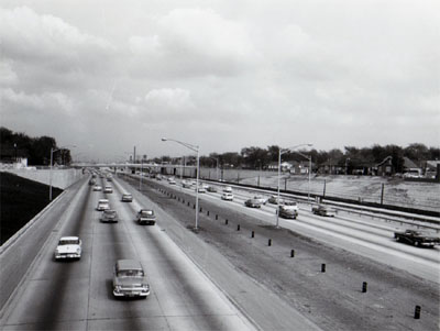 View of Congress Street, Expressway looking East from Howard Street.