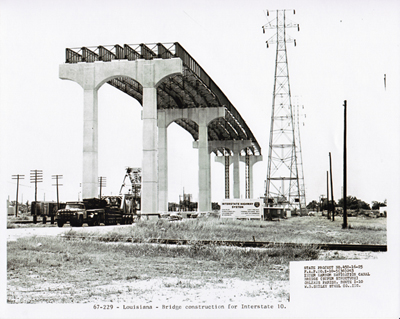 230-Louisiana - Bridge construction for Interstate 10