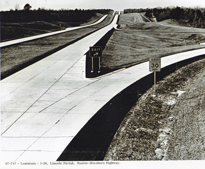 Louisiana - Lincoln Parish, I-20, Rustow-Simsboro Highway.
