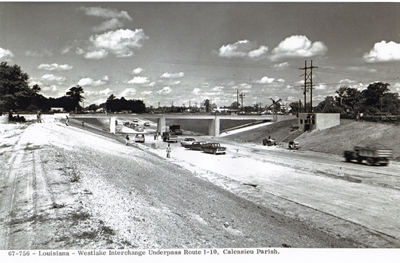Louisiana - Westlake interchange underpass Route I-10, Calcasieu Parish.