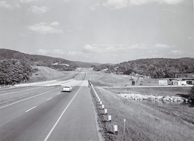 Massachusetts - Massachusetts Turnpike looking east in the Lee-Pittsfield area.