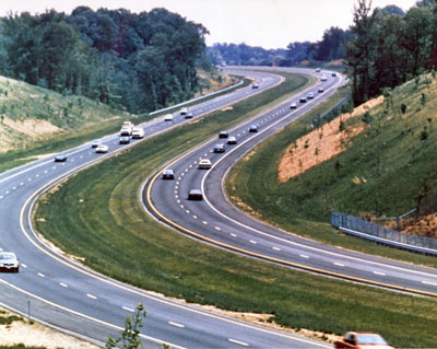 This segment of I-97 between Baltimore and Annapolis opened in December 1987. (Maryland state highway administration photo)