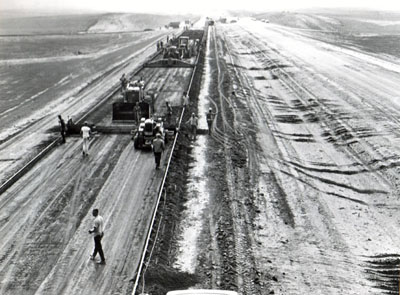 Paving operations near Richardton on Interstate 94.
