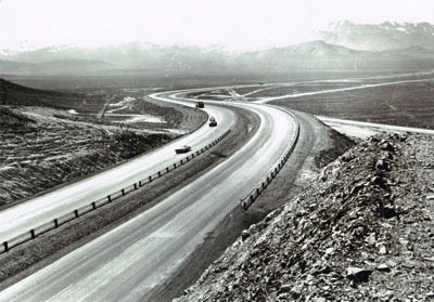 Interstate Route 80 head toward Golconda Summit in western Nevada.