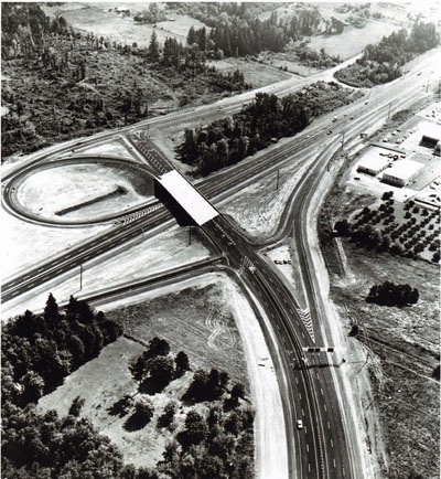 Oregon- South Tigard Interchange at intersection of Interstate 5 and the Beaverton-Tigard Highway.