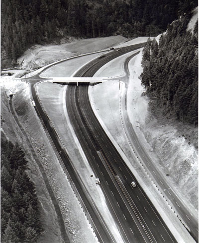 Oregon - Pacific Highway, I-5 Forest Highway 15, completed section south of Canyonville.