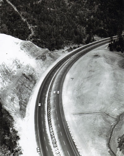 Oregon- Pacific Highway, I-5,  Forest Highway 15, completed section north of Azalea.