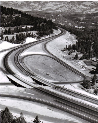 Oregon - Siskiyou Highway Interchange.  This interchange provides the exit to the Mt. Ashland ski area.