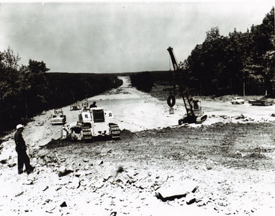 Pennsylvania Pike County- near Milroy, I-84, first construction started.
