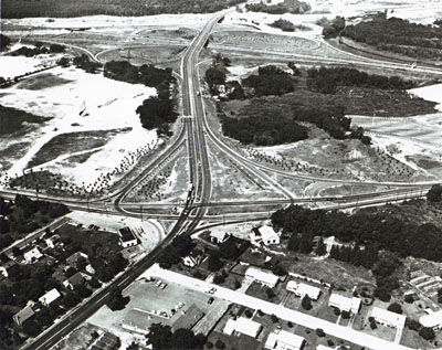 Rhode Island - East Avenue-to-Warwick interchange of I-95 and I295.