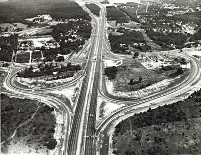 Rhode Island - Centerville Road Interchange on I-95 - Warwick.