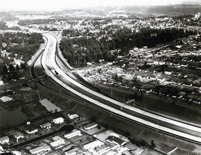 Washington- PSH-! Seattle-Everett Freeway, looking north from 175th Street NE.