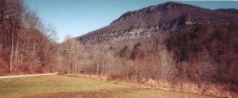 View of Cumberland Gap from the east.