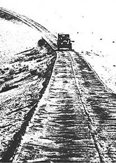 Photograph: Historic Plank Road of the 1920s.