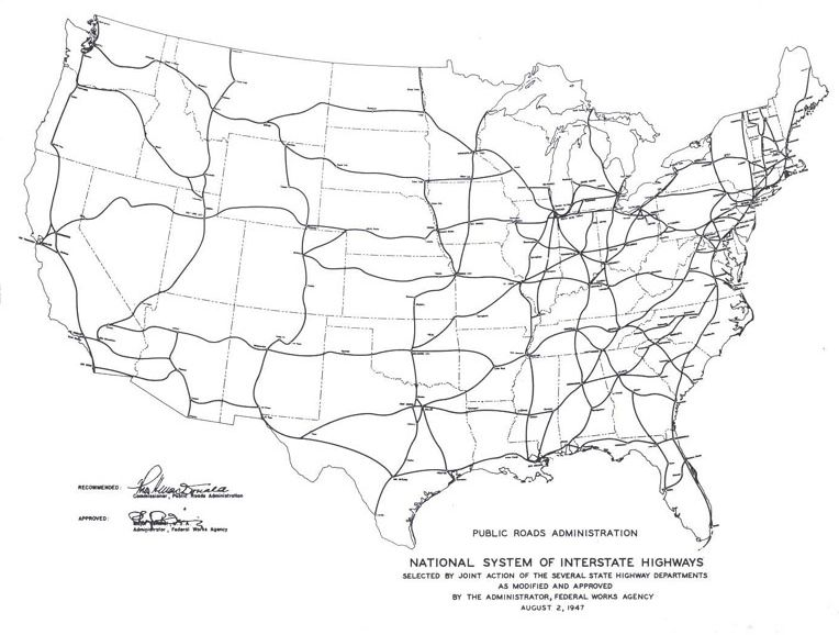 map of us interstate highway system My blog