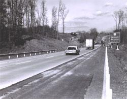 I-95 near Falmouth, Virginia showing truck and passenger vehicles.