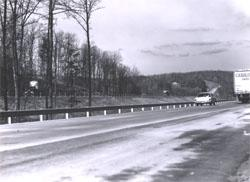 I-95 traffic in Virginia is carried on different levels.