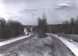 I-95 in Virginia, with its landscape median and roadsides, was considered a scenic highway when it was completed in October 1964.