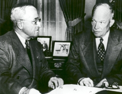Truman and eisenhower when the man who loved roads met the man who at the white house president harry s truman left and president publicscrutiny Image collections