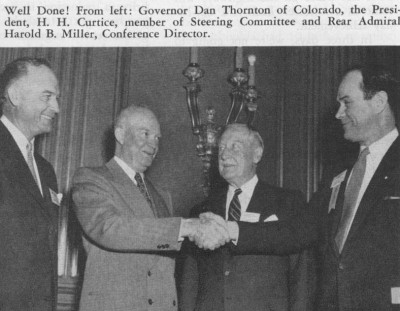 Photo gallery president dwight d eisenhower and the federal role following the 1954 white house conference on highway safety president eisenhower second from left publicscrutiny Image collections