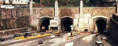 The West Portal of the Lincoln Tunnel, which passes under the Hudson River and connects Weehawken, N.J., and Manhattan in New York City. (Photo courtesy of the Port Authority of New York and New Jersey)