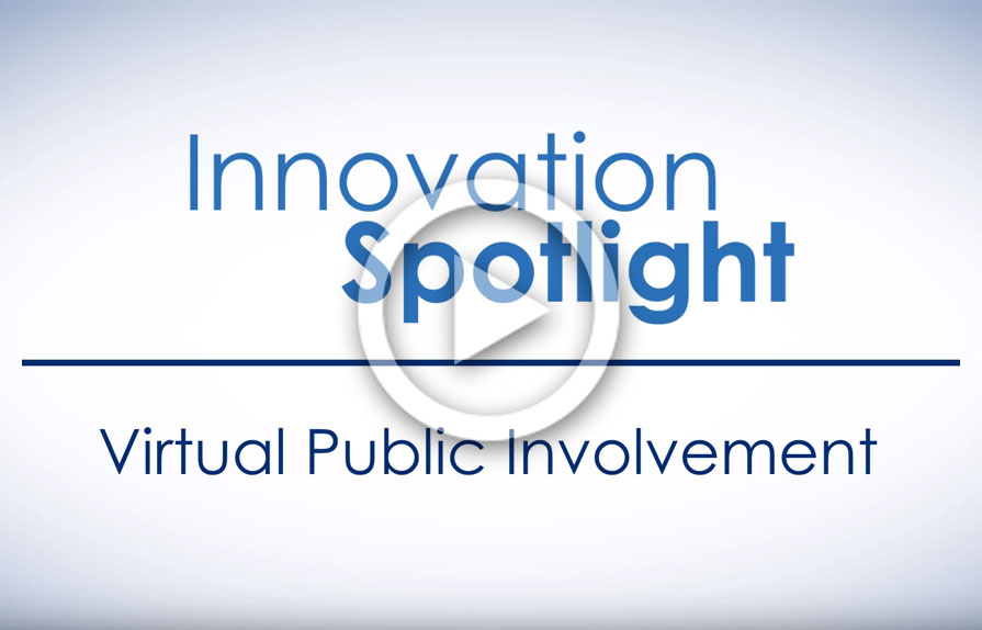 screenshot of Innovation Spotlight video on virtual public involvement