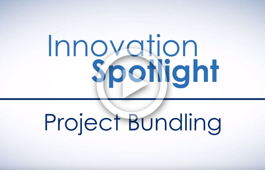 screenshot of Innovation Spotlight video on project bundling