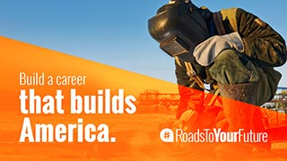 thumbnail  of Advertisement: Build a career that builds America. Option 1
