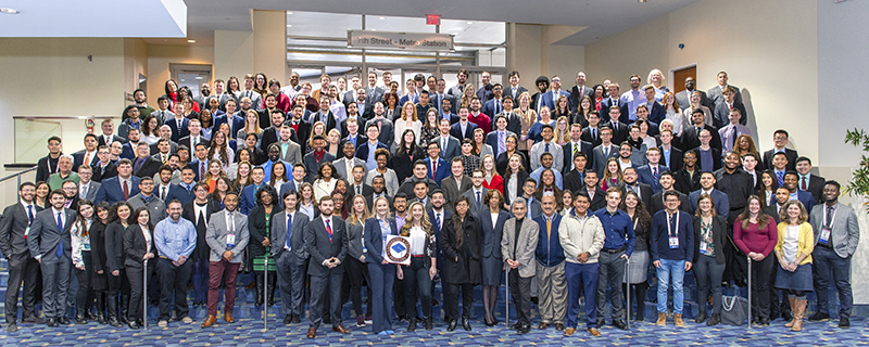 Fellows, faculty advisors, and staff gathered for group photograph during TRB Annual Meeting in Washington, DC