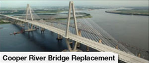 The Cooper River Bridge replacement was financed by a loan from the South