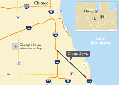Chicago Skyway Map FHWA   Center for Innovative Finance Support   P3 Toolkit