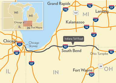 FHWA - Center for Innovative Finance Support - P3 Toolkit ... Indot Indiana Toll Road Map on us highway 31 michigan map, illiana expressway toll road map, interstate 49 missouri map, south bend indiana road map,