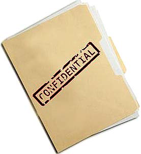 "File folder marked ""Confidential"""