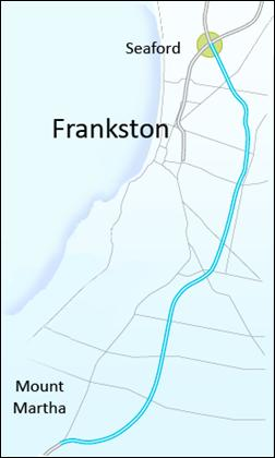 map of Frankston area