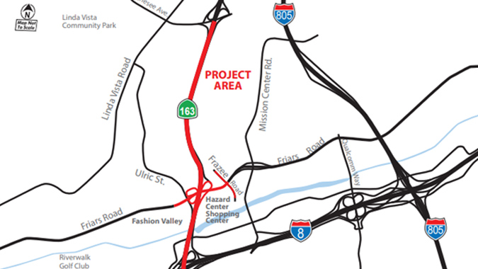 SR 163 and Friars Road Interchange Improvements    - San Diego, California