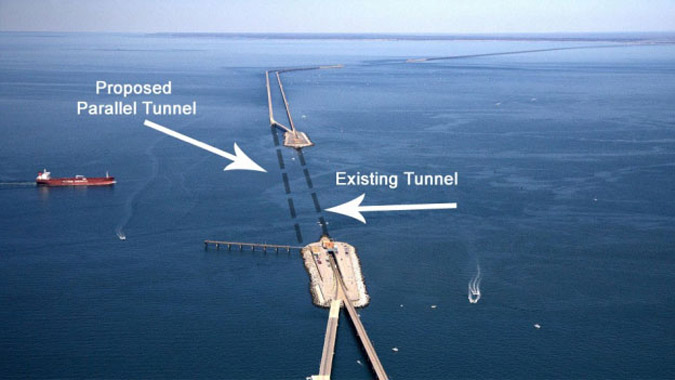 Parallel Thimble Shoal Tunnel - Hampton Roads to Eastern Shore, Virginia