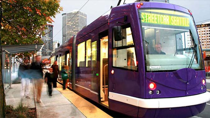 South Lake Union Streetcar - Seattle, Washington