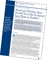 Photo of Road-use Pricing guide