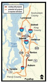 map of sr 520 area